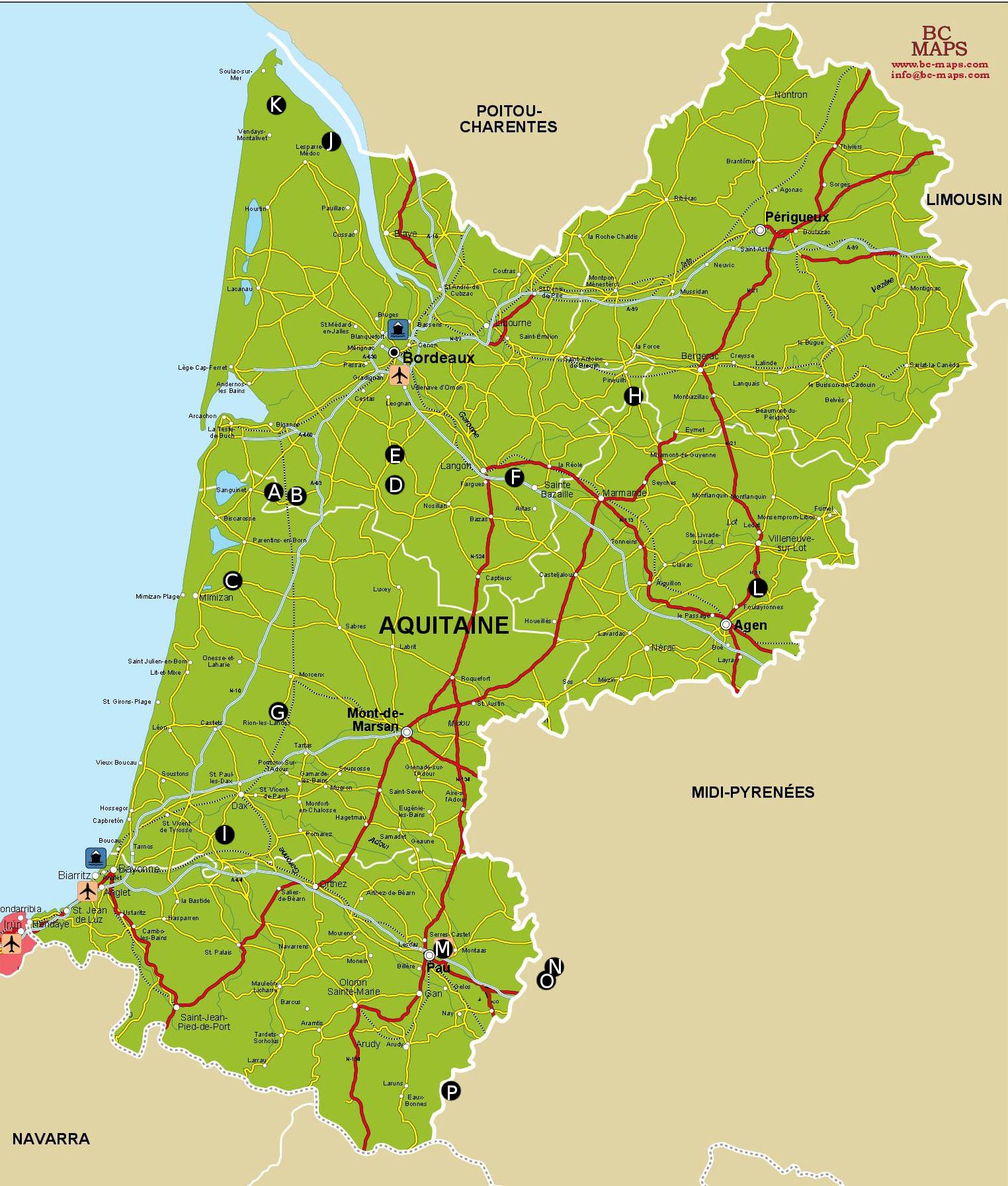 Carte-Aquitaine-producteurs - Les Jardins de Sillac